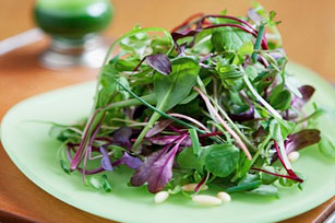 Green Salad with Almonds & Chives
