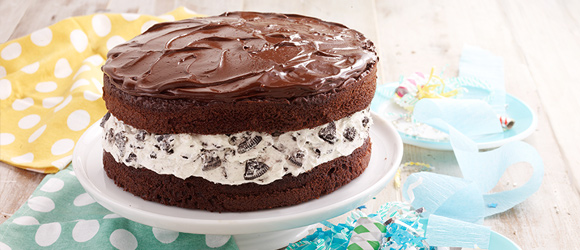 Chocolate-Covered Cookie Cake