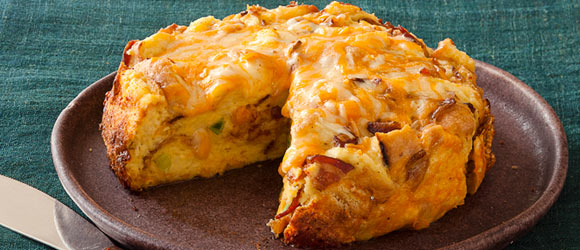 Slow-Cooker Cheesy Bacon Strata
