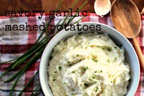 Savory Garlic Mashed Potatoes with Rosemary & Chives