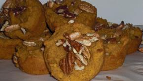 Low Carb Pumpkin Pecan Muffins