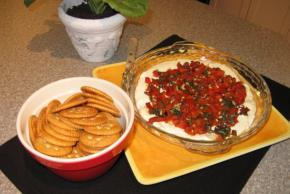 Roasted Red Pepper Bruschetta Dip