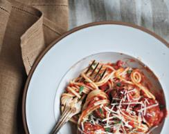 Spaghetti with Turkey Meatballs (from Nancy London - Real Simple mag reader)