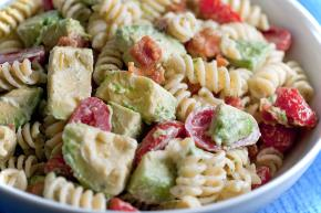 Avocado, Bacon, Tomato Pasta Salad