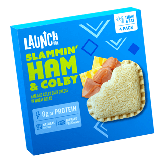 Launch Box Slammin Frozen Ham & Colby Jack Sandwich
