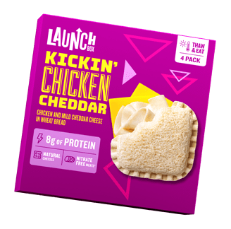 Launch Box Kickin Frozen Chicken Cheddar Sandwich